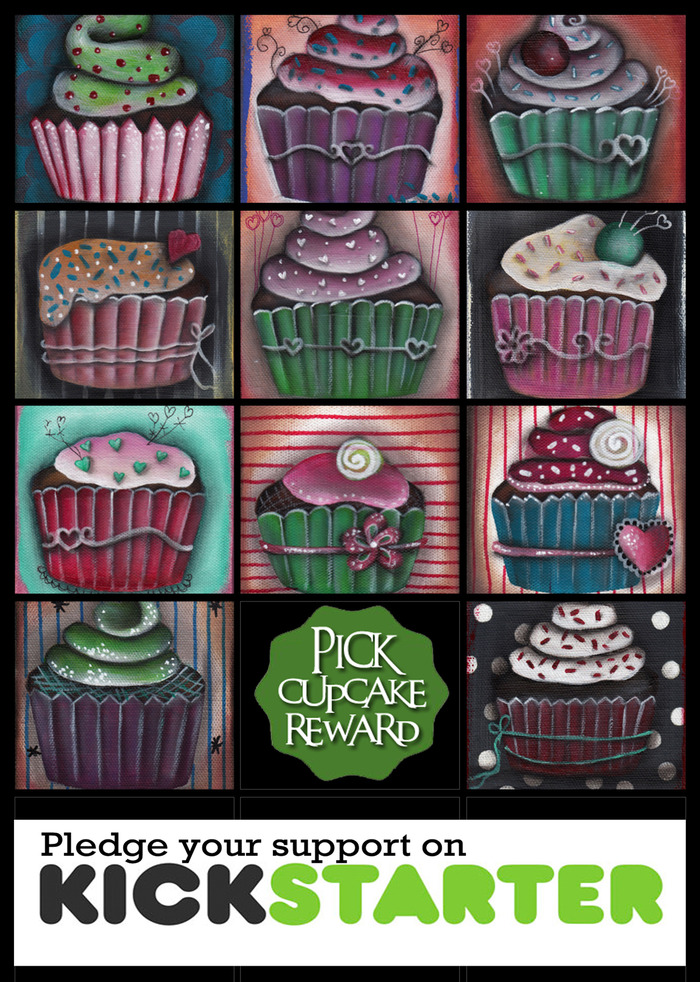 Pick Cupcake Reward to get one of this Original Paintings