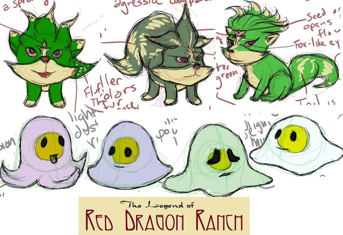 Some concept sketches of baby monsters
