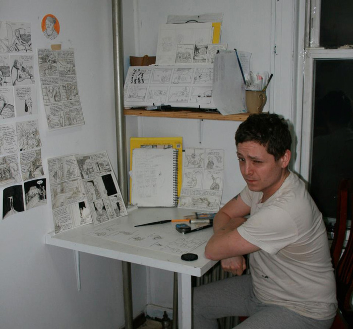 Jed Collins in his studio in New York.