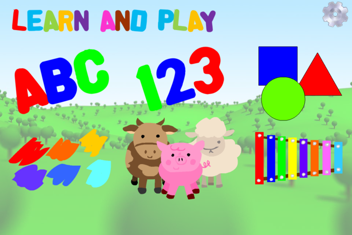My first app for iOS and Android (Q2 2012) was a learning tool for young kids.