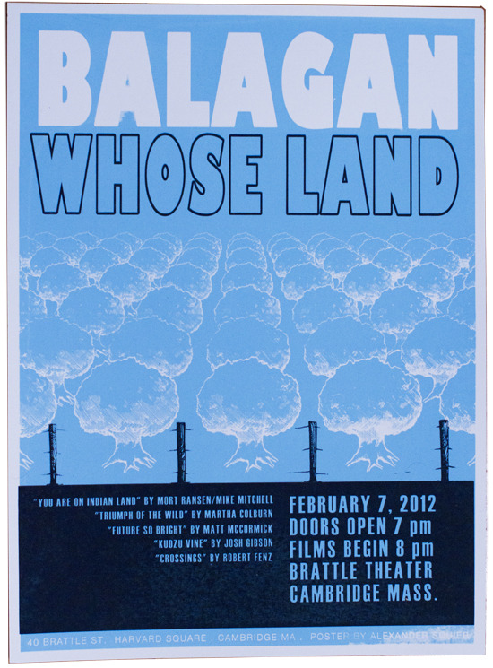 """Whose Land"" poster by Alexander Squier"