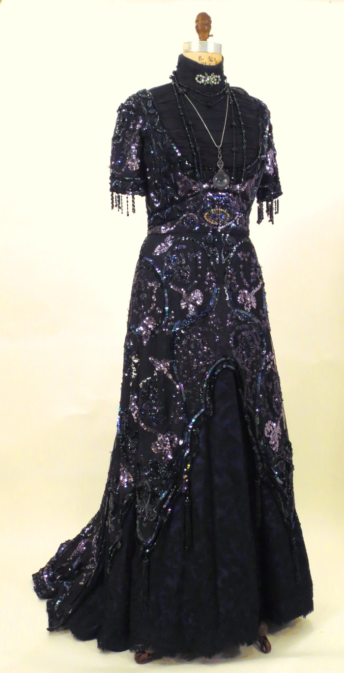 """1912 Evening Gown worn by the character Ida Strauss in the Broadway production of """"Titanic the Musical"""""""