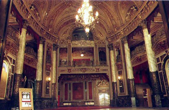 View of the Grand Lobby of the Loew's Jersey Theatre where this exhibit will be housed.