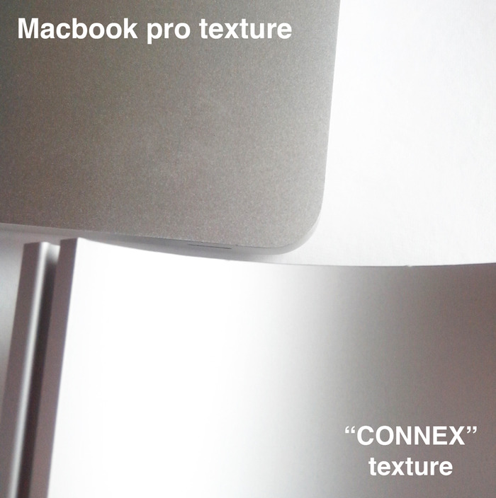 Texture compared with Mac Book Pro.