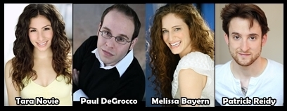 POOP CAST - Tara Novie, Paul DeGrocco, Melissa Bayern, Patrick Reidy (Click for bios and more info)