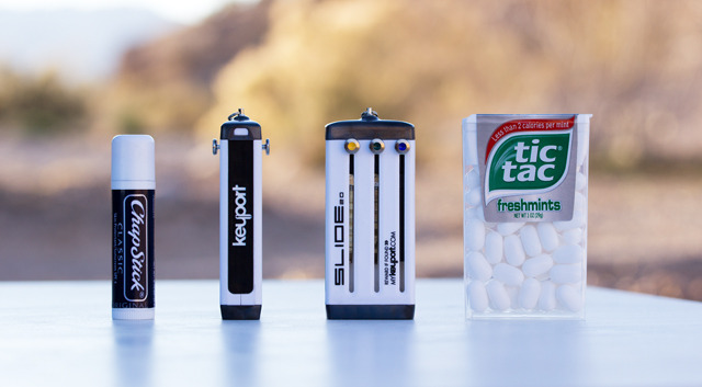 Smaller than a box of Tic-Tacs, thinner than a tube of Chapstick.