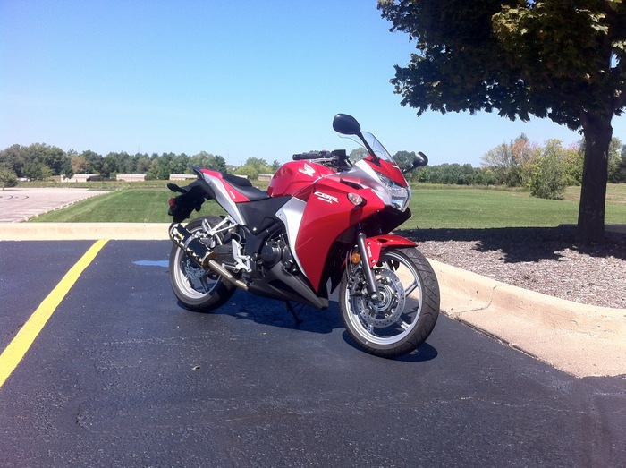 My CBR250R and the ROCKET-RAIL Testbed
