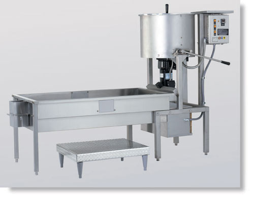The caramelizer and cooling table that we will purchase.