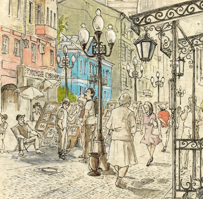 The Arbat district in Moscow by Bettina Egger