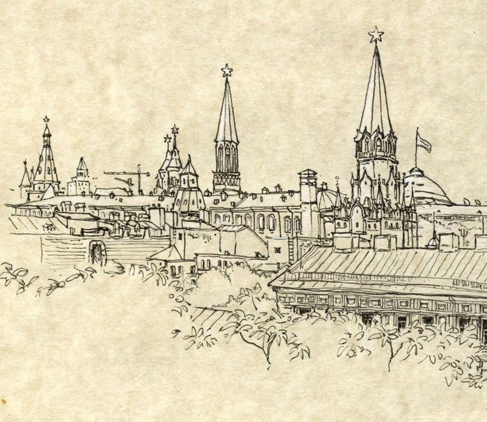 The Kremlin (sketch by Bettina Egger)
