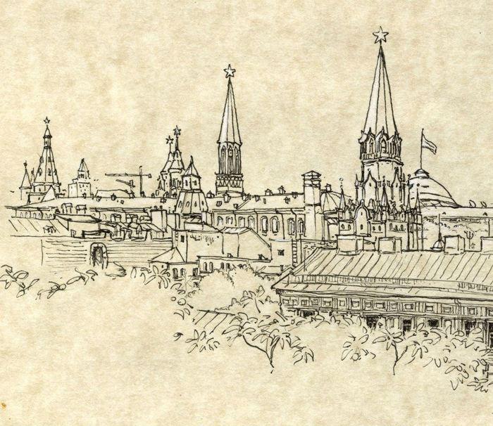 The Kremlin (sketch by Bettina Egger)