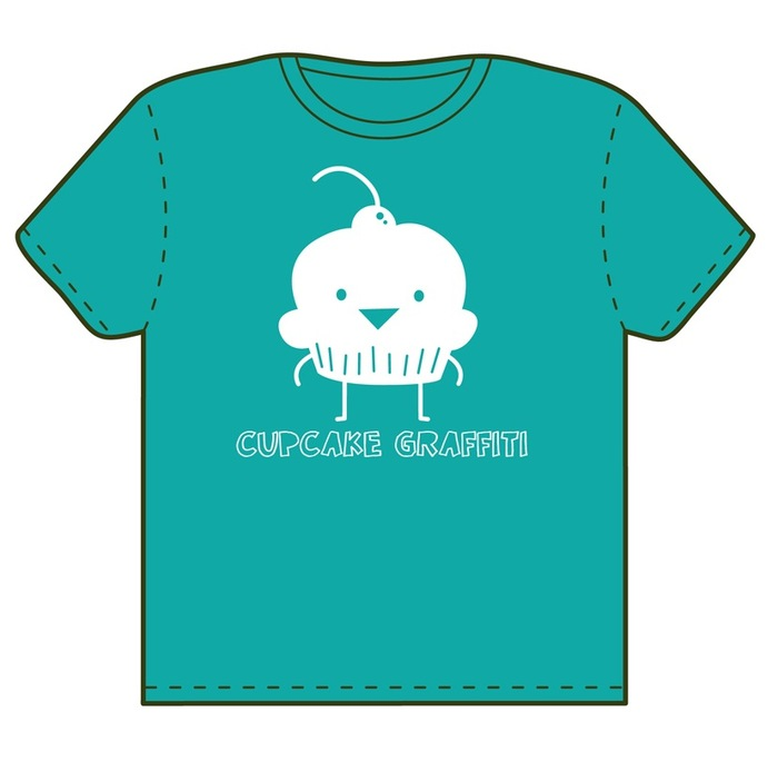 Exclusive Kickstarter Mr. Cupcake Tshirt (Sizes S, M, L and XL)