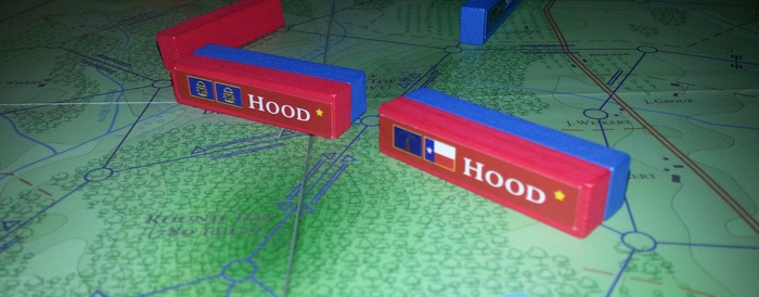 Close-Up of solid Maple pieces and board. Game Situation: Hood presses an attack against Little Round Top.