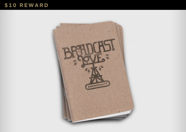 """Broadcast Love"" Notebook. Made in America."