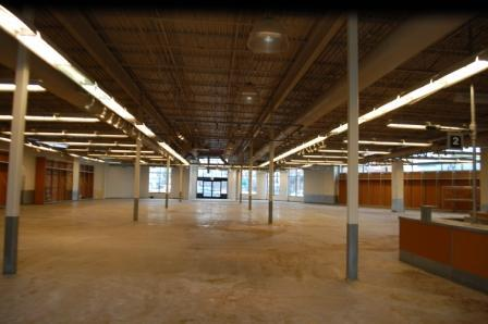 The barren Old Navy space sat looking like this for nearly 4yrs prior to The Rust Belt Market