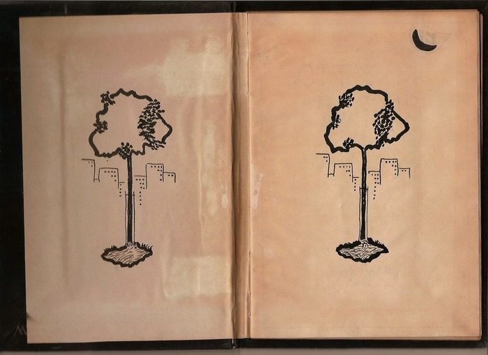 """City Signs,"" collected, written, edited and illustrated by my Grandmother, Sylvia Lutwack, in 1938."