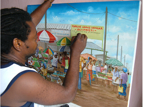Renowned artist Sabastiene Berenyny creates one of his beautiful paintings.