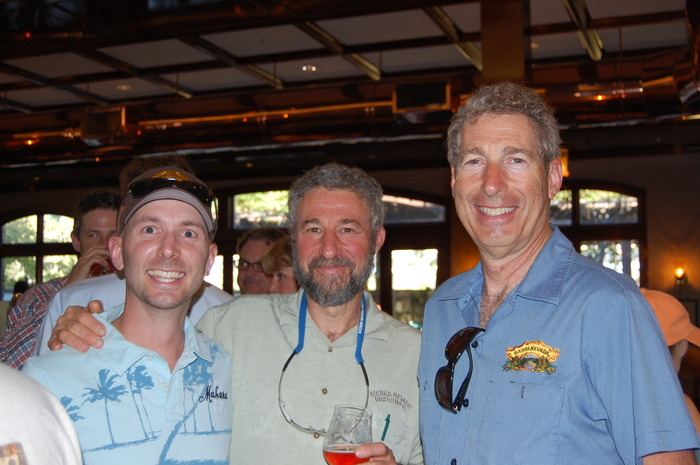 Dave, Steve Grossman and Ken Grossman, Owners of Sierra Nevada at Beer Camp