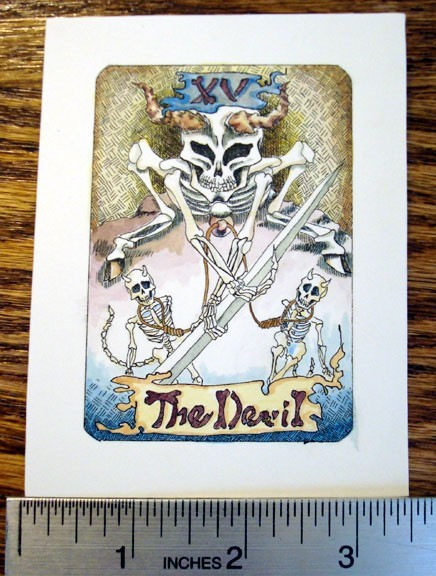 The Devil, from Tarot of the Dead, an original art reward!