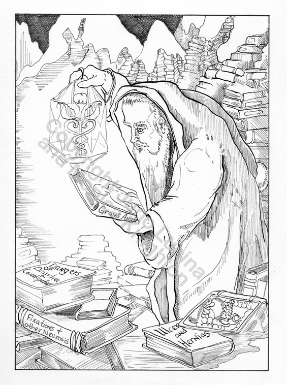 The Hermit, from The Healing Tarot, an original art reward
