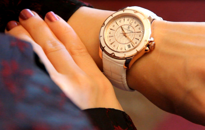 Limited Edition: After Hours watch on woman's wrist.