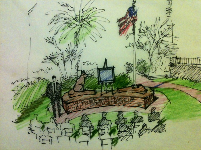 Artist Rendition of the Drake Memorial