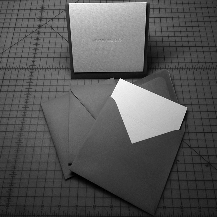 White Folded Cards w/ Grey Envelopes
