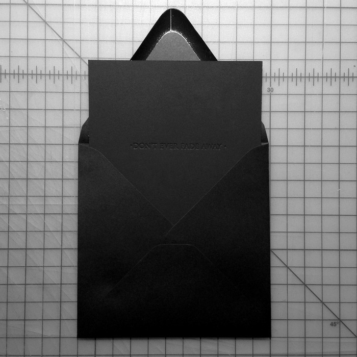 Black Flat Card with Black Envelope