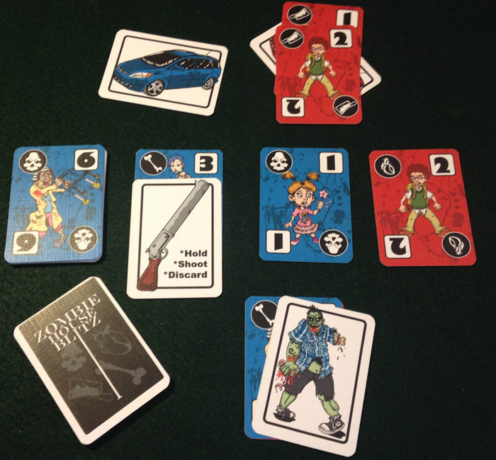 Zombie House Blitz prototype cards