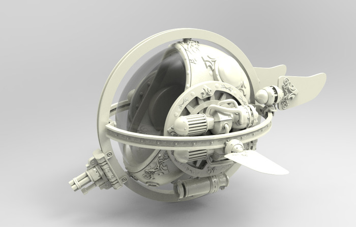 3D Render of the Bathysphere