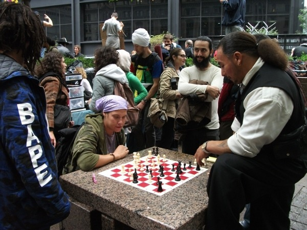 Chess match at Occupy Wall Street, November 2011