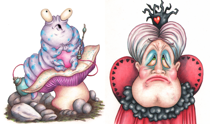 First Art Preview - The Caterpillar and Queen of Hearts by Andy Hopp