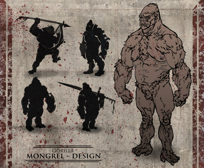 The gorilla, while strong, excels at defensive combat and tactics, utilizing their mass to bullet into combat.