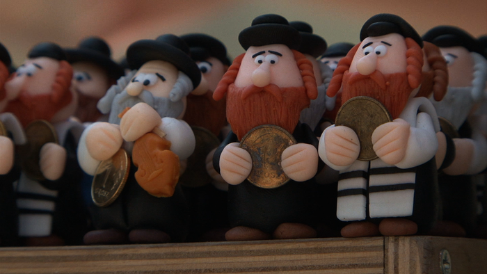 Jewish figurines for sale in Krakow