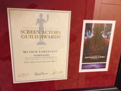 NOMINATED SCREEN ACTORS GUILD AWARD - SPIDERMAN 4