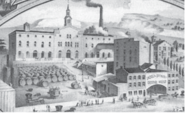 The Jackson Brewery complex during the ownership of George Weber.