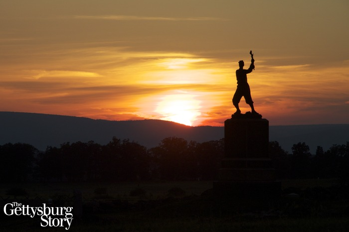 Gettysburg Battlefield: Sunset at the Bloody Angle.