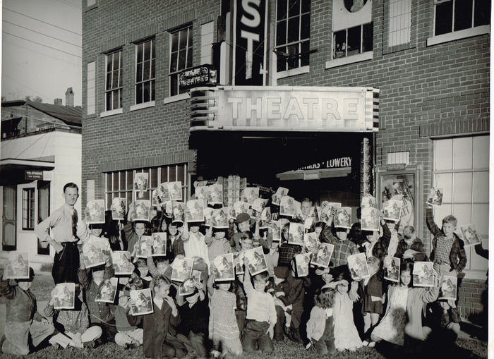 Children's activities at the Priest Theatre, in the 1940's.