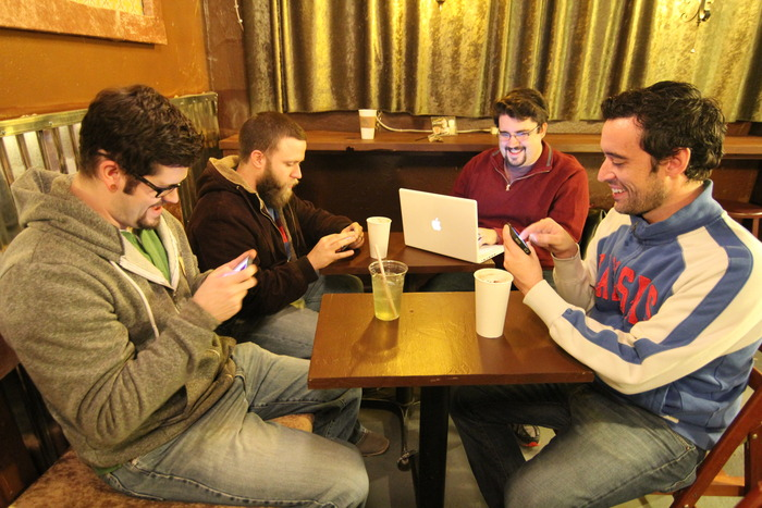 The crew at Java Break - for coffee and development. (Brock, Palmer, Michael & Matt)