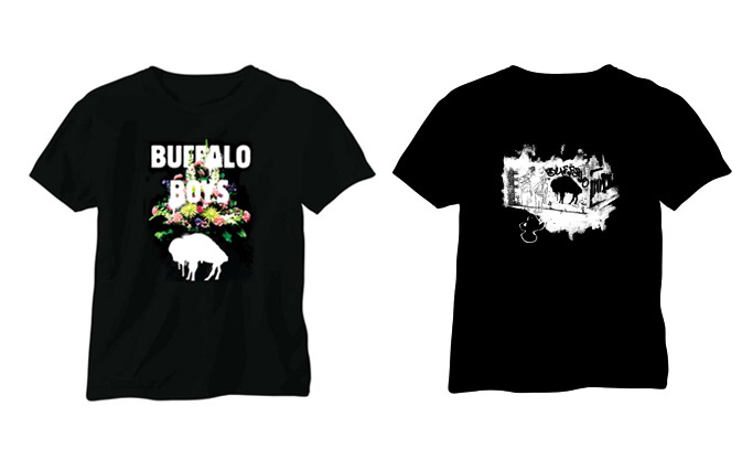 Official T-Shirt! (Left) Limited Edition T-Shirt. Design by Jessie Morris. (Right)
