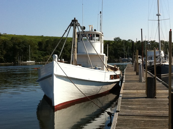 This image shows how Laurel looks today, ready for her journey as an oyster bar.