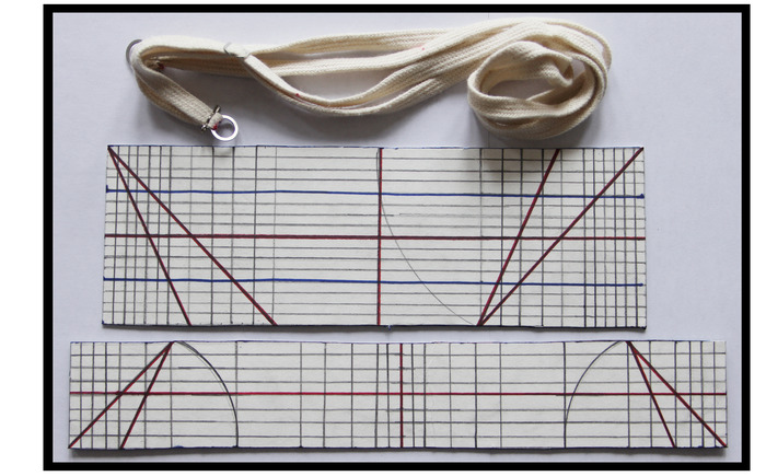 E&M tool templates: Protractor, Alpha ruler and Beta ruler.