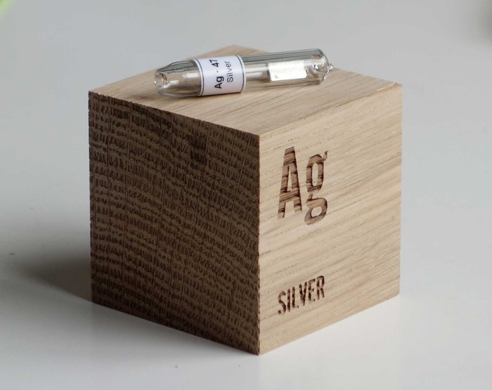 Lovingly-crafted oak Element cube. The Silver ampoule goes to the top donor on Day 1!