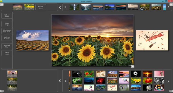 NUIA Imagine photo organizer and viewer powered by NUIA SDK