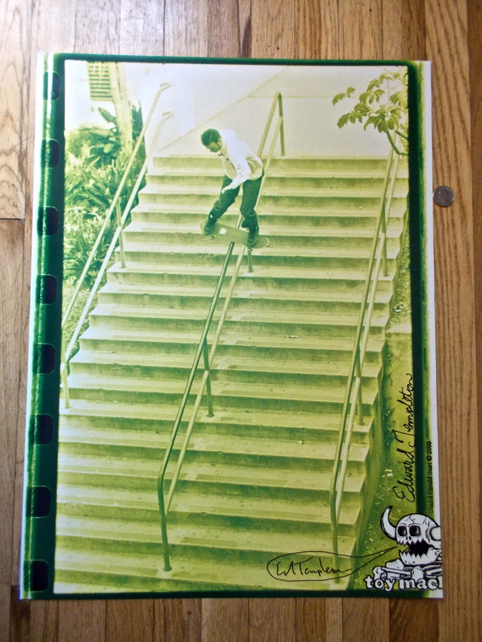 Signed and out of Print Ed Templeton Toy Machine poster. Year 2000.