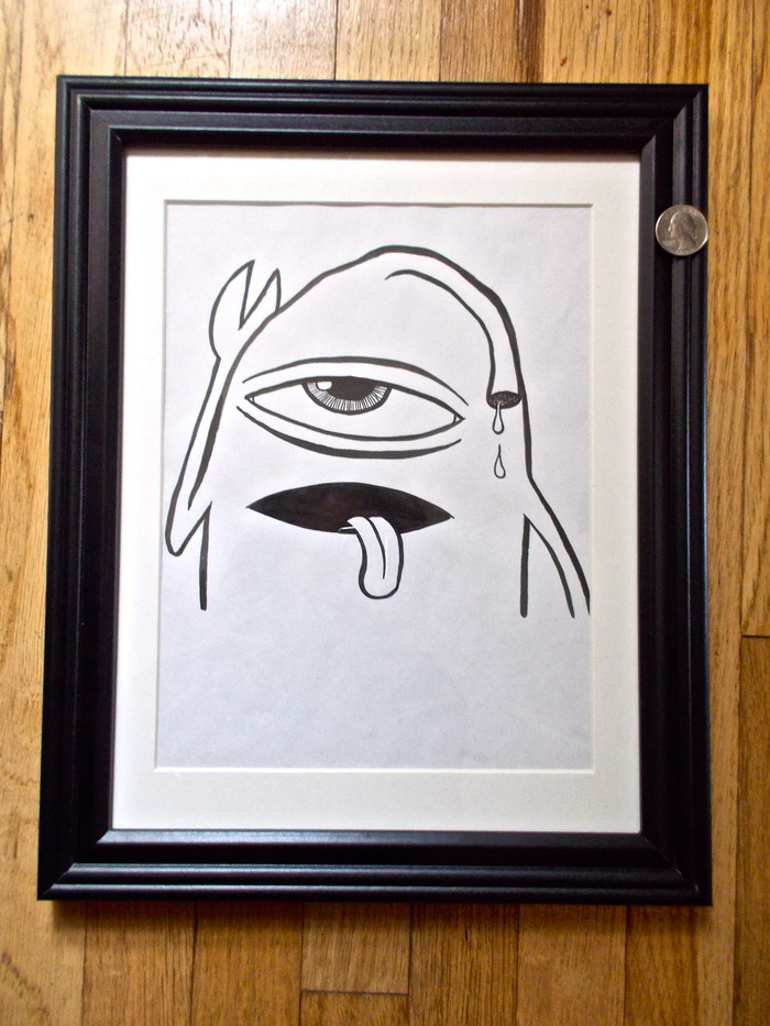 SOLD! Original signed Ed Templeton drawing used in Toy Machine Production. Sect  (#1) -SOLD!