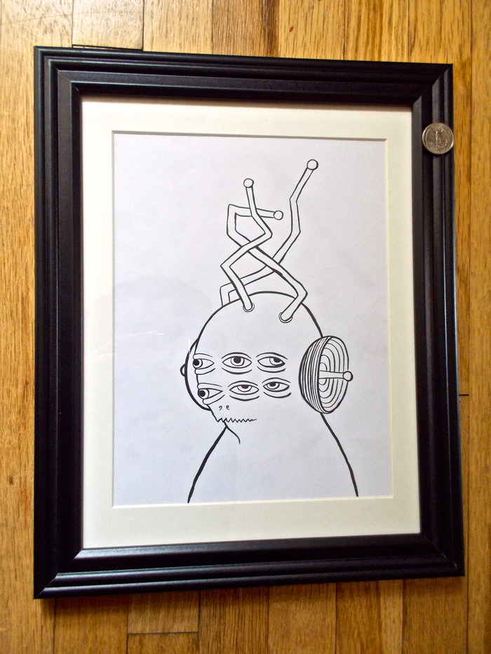 SOLD! Original signed Ed Templeton drawing used in Toy Machine Production. 'Transmissionator' (#2) -SOLD!