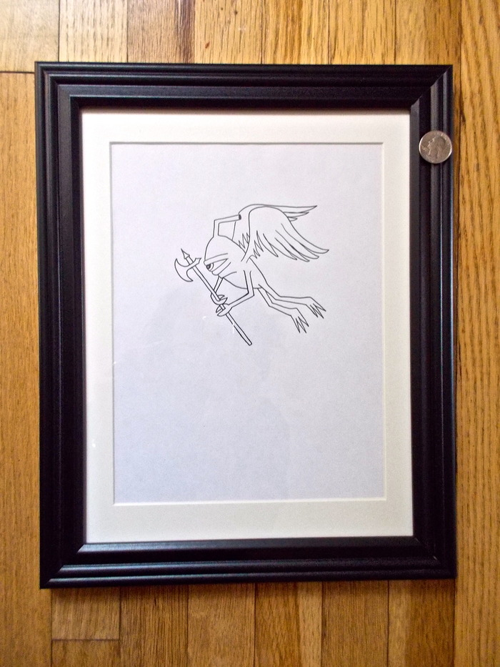 (SOLD) Flying Sect (#5)- $300   Original signed Ed Templeton drawing used in Toy Machine Production.