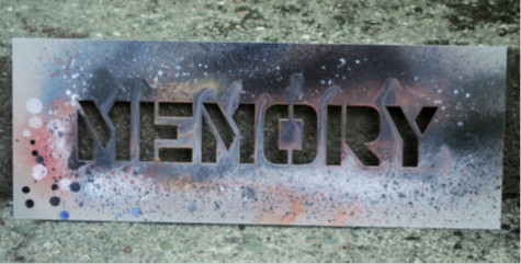 An example of a spray painted stencil