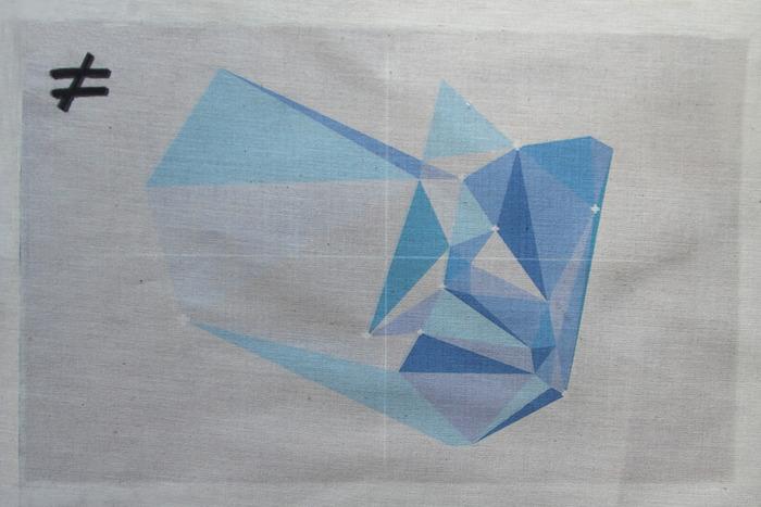 Web art on fabric.